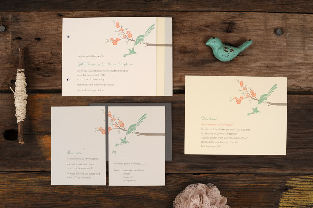 Bird Wedding Invitation: Love Birds Wedding Theme
