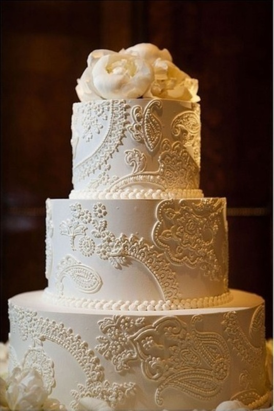 Cake Ideas For Small Wedding : Lace-Inspired Wedding Ideas Peony Events