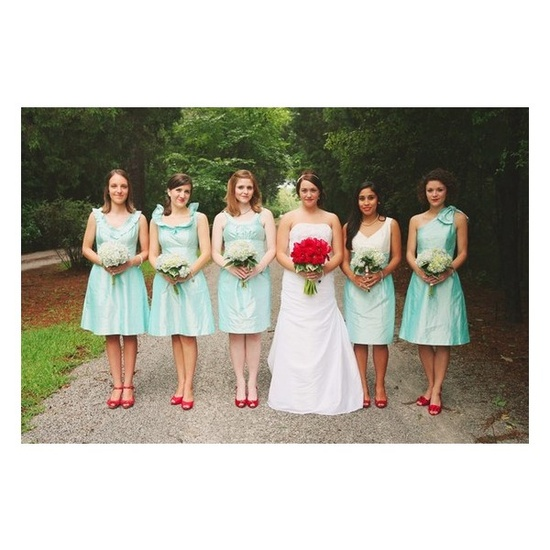 Fresh alert mint green poppy red wedding inspiration peony events brides who pick these colors want to make a statement minty fresh wedding gown found on urban poppy junglespirit Images